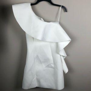 NWT ASOS Asymmetrical White Dress